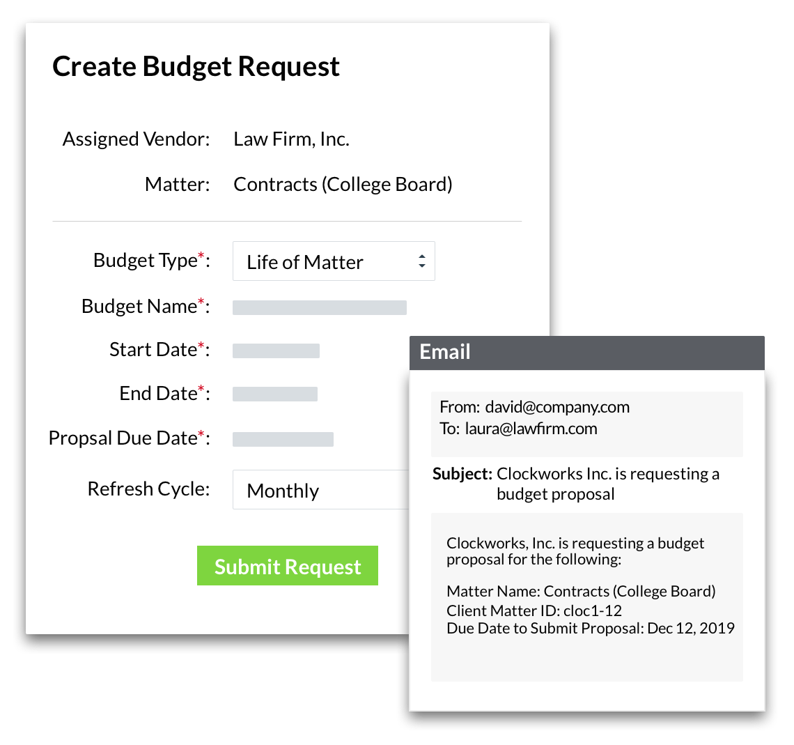 Budget Request by SimpleLegal