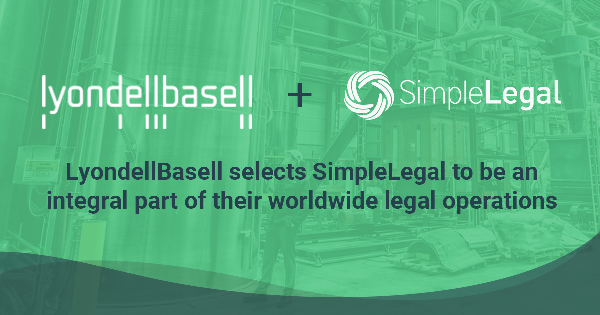LyondellBasell to Streamline its Worldwide Legal Operations